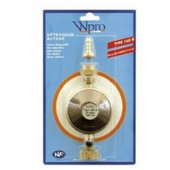Pressure regulator for butane gas with nipple